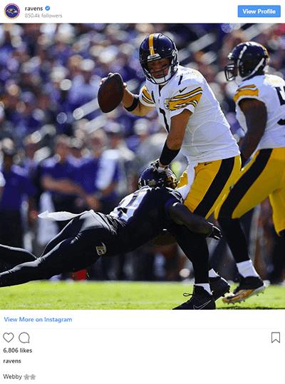 Baltimore Raven's Instagram.